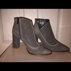 Vince Camino Grey bootie heels (barely worn)